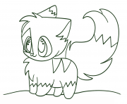 Coloriage kawaii chibi cat