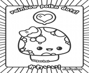 Coloriage polka kawaii