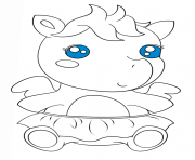 Coloriage cute baby pagasus kawaii