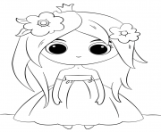 Coloriage cute princess kawaii