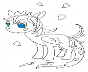 Coloriage kawaii pegasus pony