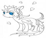 kawaii pegasus pony dessin à colorier