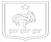 Coloriage foot france fff logo