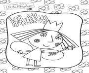 Coloriage holly Le Petit Royaume de Ben et Holly