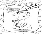 ben sur une coccinelle Le Petit Royaume de Ben et Holly dessin à colorier