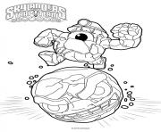 Coloriage skylanders Short Cut Rocky Roll