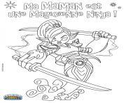 skylanders ninjini dessin à colorier