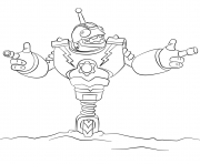 skylanders Giants Bouncer dessin à colorier