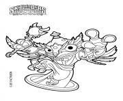 skylanders swap force HootLoop dessin à colorier