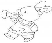 lapin lapinot dessin à colorier
