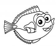 poisson davril rigolo dessin à colorier