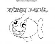 Coloriage blague poisson davril dessin