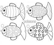 poissons davril plusieurs modele dessin à colorier