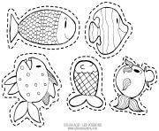 les poissons d avril par alice et sandra dessin à colorier