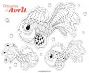 Coloriage poisson avril a decouper par eugenie varone