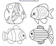 poisson davril dessin dessin à colorier