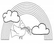 oiseau arc en ciel dessin à colorier