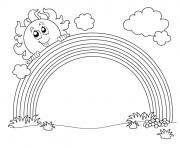 arc en ciel maternelle dessin à colorier