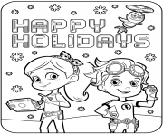 Happy Holidays with Rusty Rivets dessin à colorier