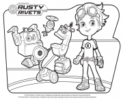 Coloriage Rusty Rivets Robots