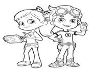 Coloriage rusty et ruby de rusty rivets enfants