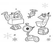 Coloriage rusty rivets christmas