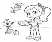 Coloriage Cute Robot from Rusty Rivets Robot Dinosaur dessin