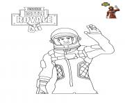 Coloriage Fortnite Battle Royale personnage 5
