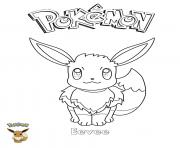 Coloriage Eevee Pokemon