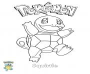 Coloriage Squirtle Pokemon