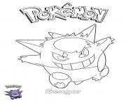Gengar Pokemon dessin à colorier