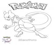 Coloriage Mewtwo Pokemon