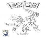 Coloriage Dialga Pokemon