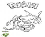 Coloriage Rayquaza Pokemon