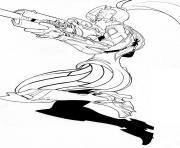 overwatch fatale heros de defense dessin à colorier