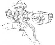 Coloriage overwatch tracer