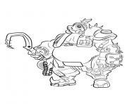 overwatchroad hog dessin à colorier