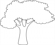 arbre simple facile nature dessin à colorier