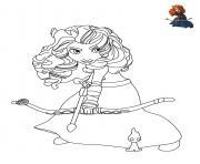 Merida La Princesse Rebelle de Disney dessin à colorier