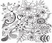 fleurs simples pour adulte dessin à colorier