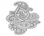 adulte mandala fleurs oriental art dessin à colorier