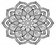 Coloriage mandala adulte fleurs relaxation
