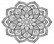 mandala adulte fleurs relaxation dessin à colorier