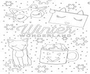 Coloriage adulte sephora winter wonderland