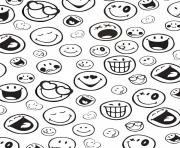 Coloriage smiley silence dessin