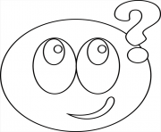 Coloriage smiley interrogatif