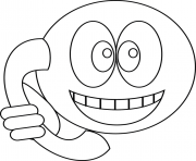 Coloriage smiley telephone