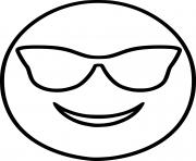 Coloriage smiley emoji cool