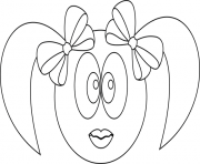 Coloriage smiley fille