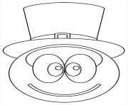 Coloriage smiley chapeau